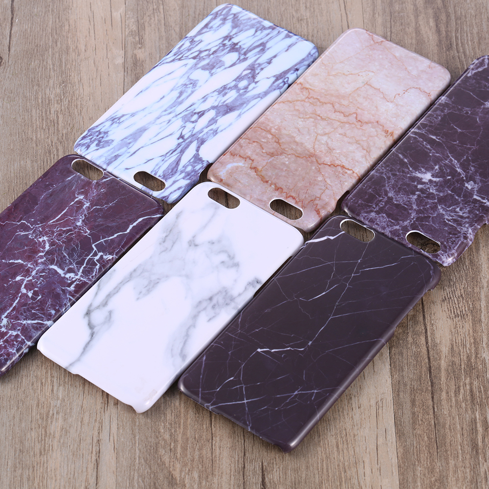 Newest Fashion Stone Granite Marble Texture Pattern PC Case for iPhone 6s 6 4.7 /plus 5.5 Thin Back Cover Case for iphone 6 s