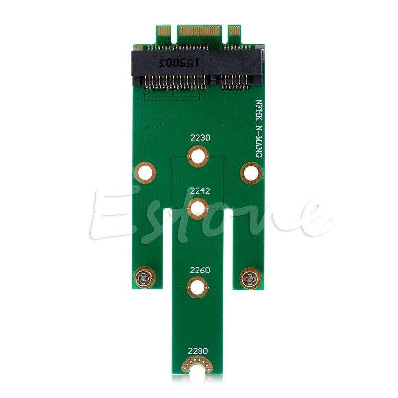 2019 New New MSATA Mini PCI-E 3.0 SSD To NGFF M.2 B Key SATA Interface Adapter Card