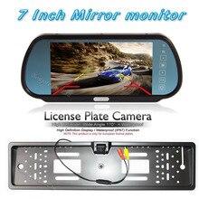 """HD 7 """"ЖК-дисплей зеркало автомобиля Мониторы парковка DVD/VCD/GPS/ТВ Экран и резервного копирования Номерные знаки для мотоциклов Рамки вид сзади автомобиля Парковка Обратный Камера"""
