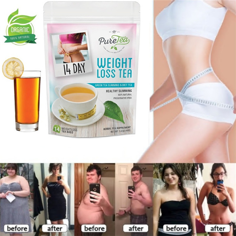 14 Days Natural Slimming Tea Weight Loss Skinny Tea & Fat Burning Diet Tea Metabolism Booster for Women and Men Weight Losing