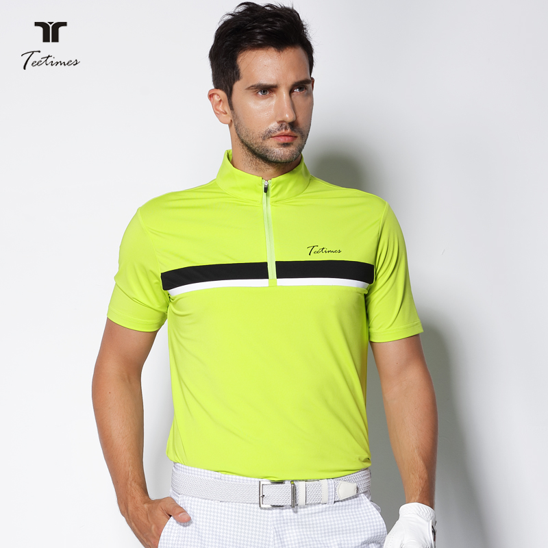 2018 Teetimes New Arrival Men Golf Polo Shirts Summer Male Quick Dry Breathable T-shirt Short Sleeved Outdoor Sport Golf apparel