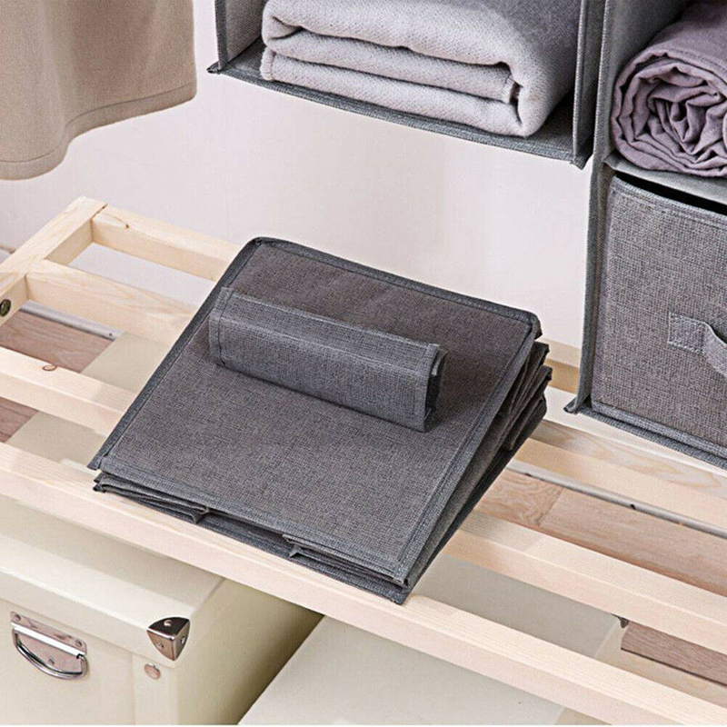 Image 5 - Cotton Closet Wardrobe Cabinet Organizer Hanging Pocket Drawer Clothes Storage Clothing Home Organization Accessories Supplies-in Hanging Organizers from Home & Garden