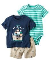 d3ca9bf7e742 Infante appena nato Del Bambino vestiti Del Ragazzo 3 pz set T-Shirt + Tuta  + Shorts carter sytly Toddle Bambino della ragazza 3.