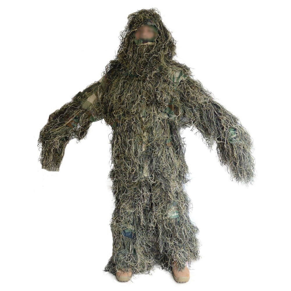 Camouflage Hunting Ghillie Suit Secretive Hunting Clothes Sniper Tactical Yowie Bionic ghillie suit Camouflage jacket and pants