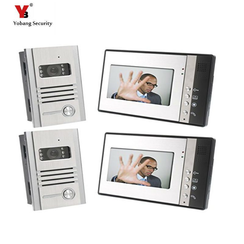 Yobang Security 7 Inch Color Video door phone Outdoor Metal Camera Home DoorPhone Door Video Intercom Waterproof Doorbell yobang security 7 inch video door phone visual doorbell doorphone intercom kit with metal villa outdoor unit door camera monitor