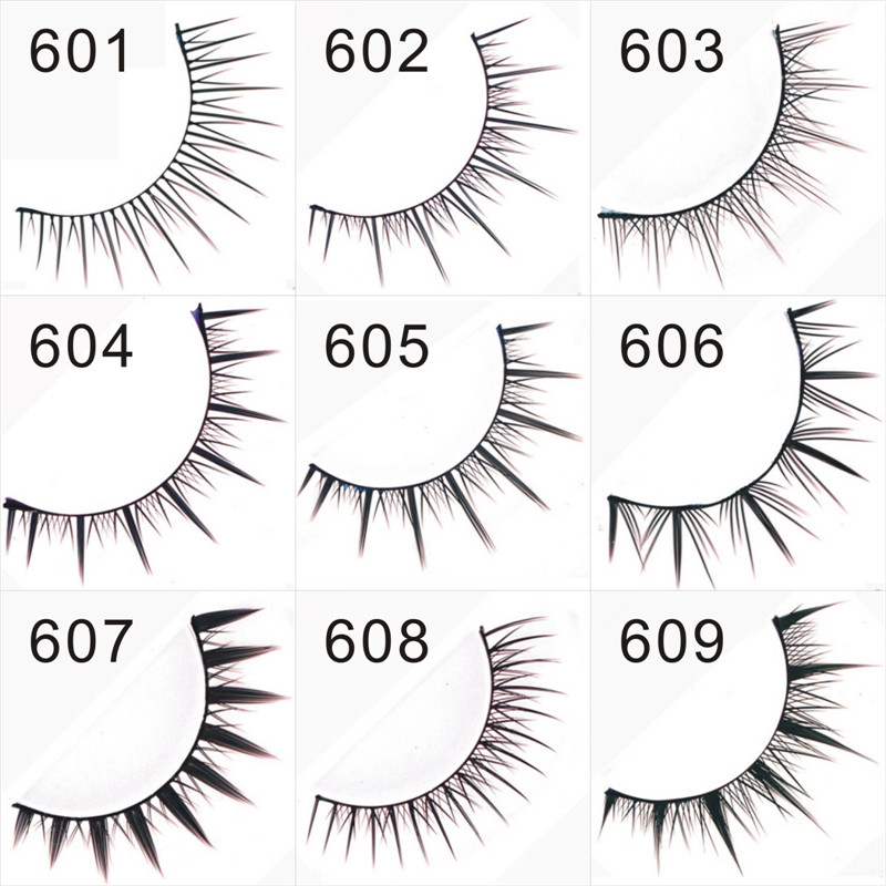 False Eyelashes original Marlliss 601-609 nature long Eyelashes extensions High quality  ...
