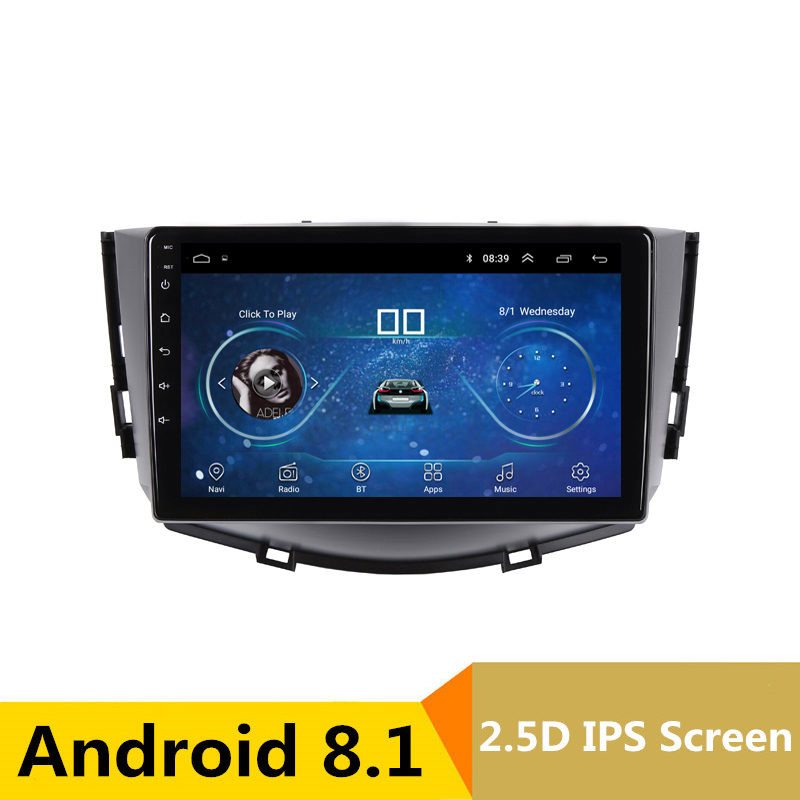 цена 9 inch 2.5D IPS android 8.1 car dvd for Lifan X60 2011 2012 2013 2014 2015 radio navigation car stereo gps multimedia player