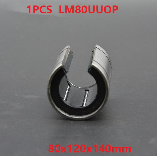 1pcs LM80UUOP Open Type linear ball bearings linear motion bushing bearings CNC parts Linear Guide 80x120x140mm lm6luu 6 x 12 x 35mm carbon steel linear motion ball bearings
