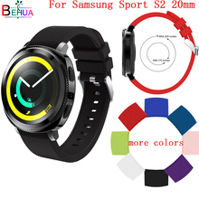 20MM Silicone strap For Samsung Gear sport S3 watchband Wristband Replacement for S2 smart watch 42mm watchbands