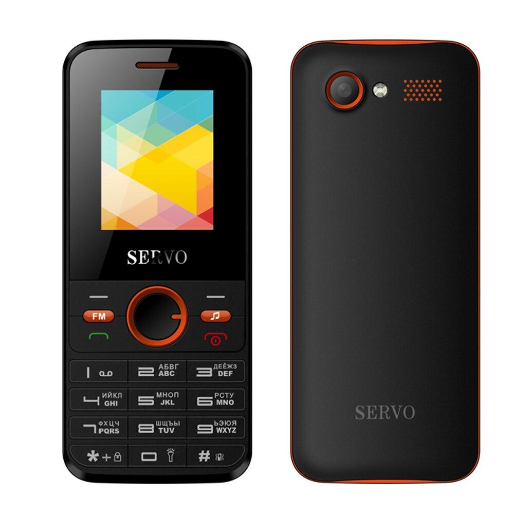 Original SERVO V8240 1.77inch Dual SIM Card GPRS Vibration Outside FM Radio Cellphone With Russian Keyboard Mobile Phone