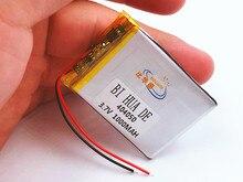 Аккумулятор gps-навигатора 3,7 V 404050 1000 MAH литий-полимерный перезаряжаемые литиевые батареи литий-ионный аккумулятор для MP3 MP4 MP5 Электрический рисунки для украшения записной книжки
