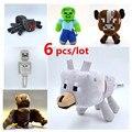 6 pcs/lot  Wolf Steve Skeleton Bat Spider Cow Plush Toys High Quality  Stuffed Dolls Kids Toys Birthday Gifts