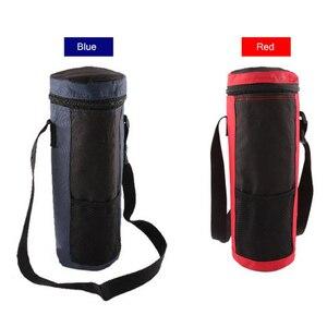 Image 5 - 2 szt. Cylinder torba termiczna izolowane napoje wodne butelki/puszki torba do przenoszenia lodówka turystyczna pojemnik na żywność czerwony + niebieski
