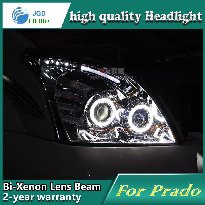 high quality Car styling case for Toyota Prado 2003-2009 Headlights LED Headlight DRL Lens Double Beam HID Xenon Car Accessories high quality car styling case for mitsubishi lancer ex 2009 2011 headlights led headlight drl lens double beam hid xenon