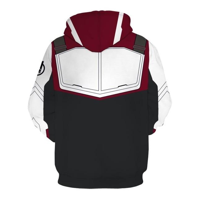 2019 The Avengers Endgame Quantum Realm Cosplay Costume Hoodies Men Hooded Avengers Zipper End Game Sweatshirt Jacket 2