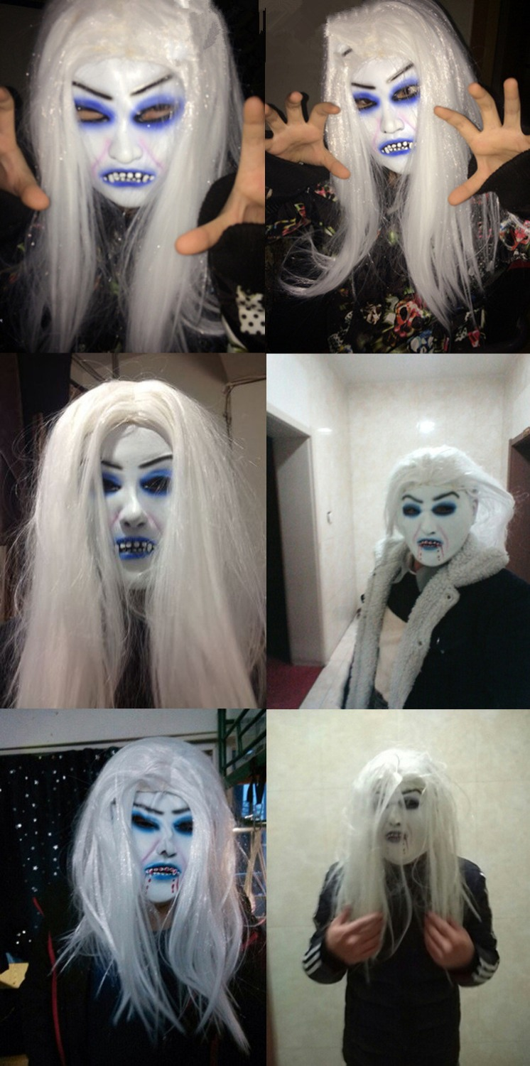 Online Shop Cosplay Movie Bride with white hair devil ghost Zombie ...