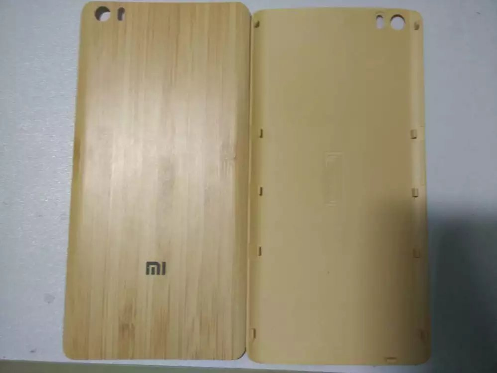 Original New Battery Door For Xiaomi Mi Note Pro 5.7 inch Natural Bamboo Back Rear Cover Housing With Tools Replacement Parts