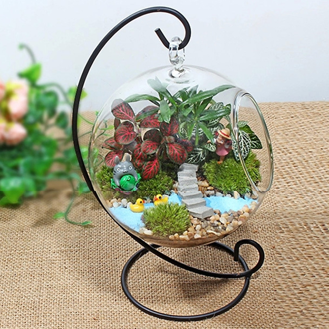 Gambar Clear Glass Vase Glass Terrarium Creative Bottle Plant Pernikahan