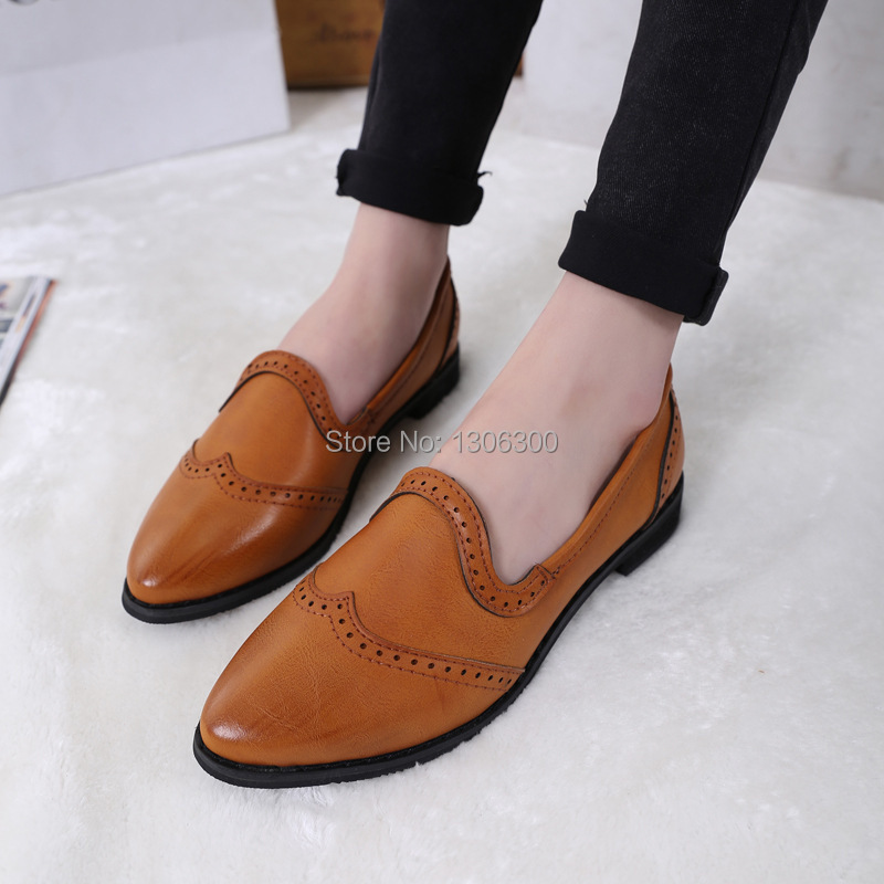 Spring, new style, leather shoes, British college wind vintage, single shoes, thick sole, fashion women's shoes