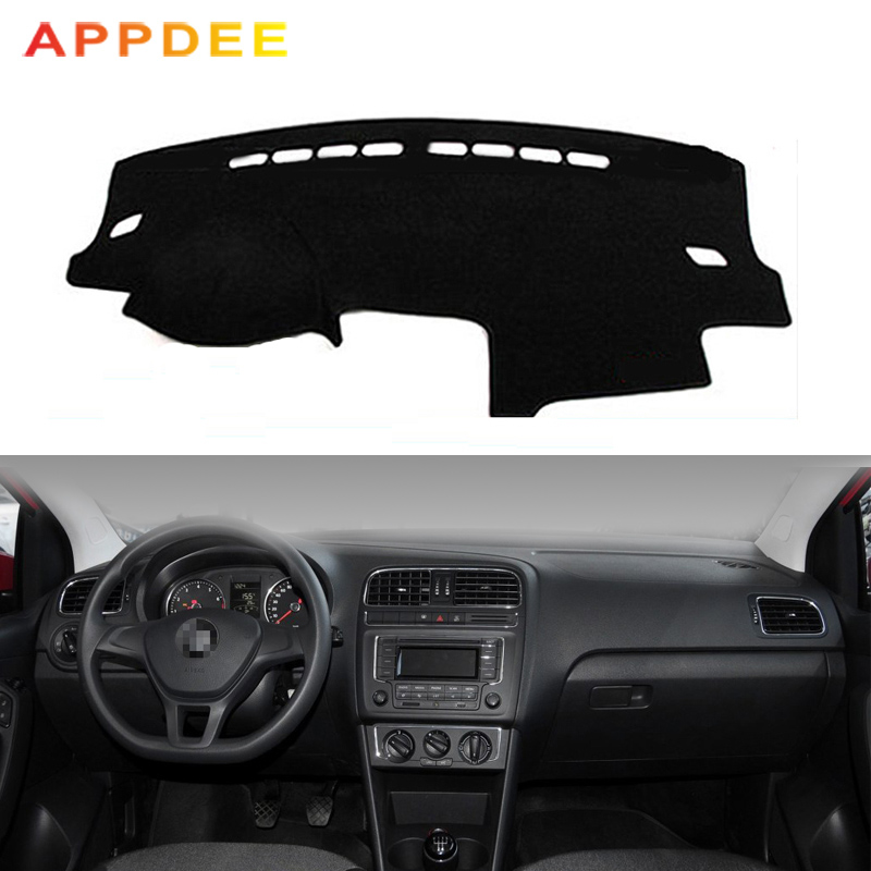 APPDEE Car Dashboard Cover For Volkswagen VW Polo Sedan Vento MK5 6R 2009 - 2017 Dash Mat Dash Board Pad Carpet Dashmat Anti-UV