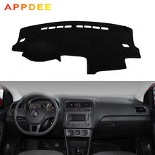 APPDEE araba Dashboard kapak Volkswagen VW Polo Sedan Vento MK5 6R 2009-2017 Dash Dash kurulu ped halı Dashmat Anti-UV(China)