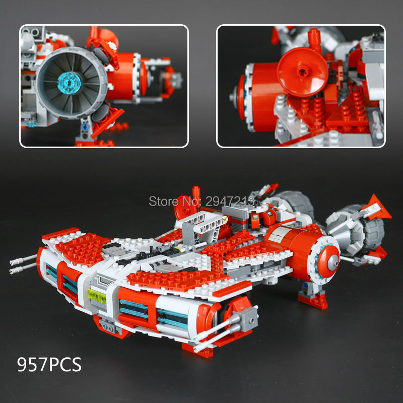 hot compatible LegoINGlys Star Wars with figures jedi defender class cruiser model Building blocks Toys for children gift 957pcs space wars jedi defender class cruiser universe starship 05085 model building block toy bricks games compatible with lego