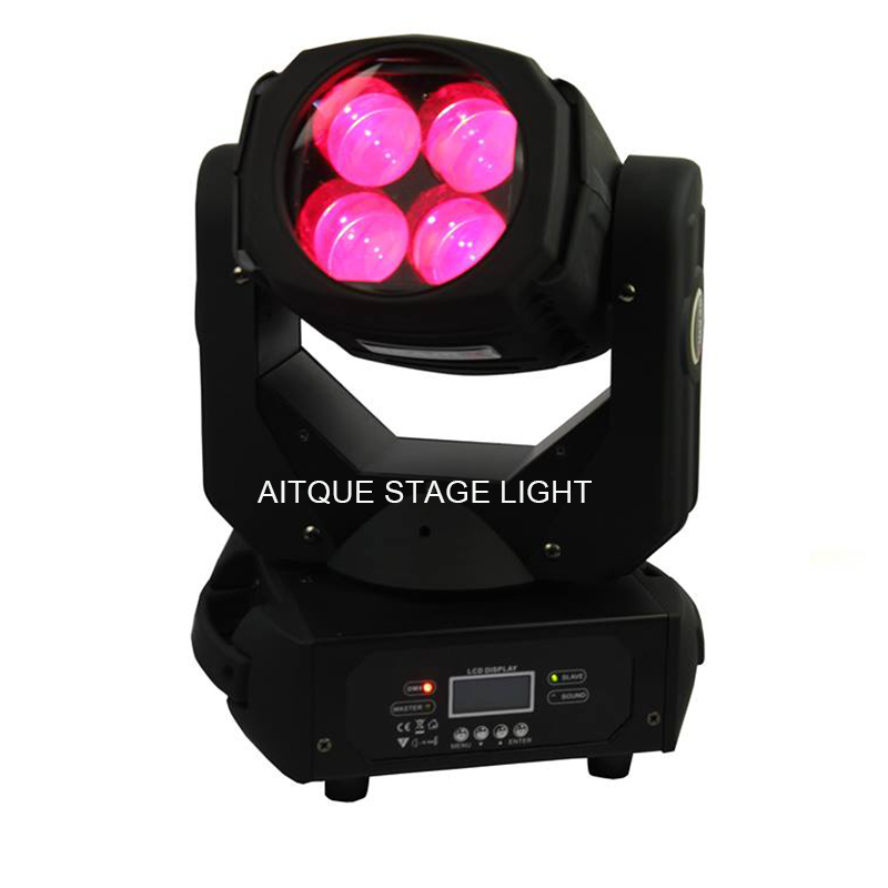 16lot Professional lighting led beam 4 moving heads beam 4x25 w rgbw moving head led lyre mini moving head beam lights
