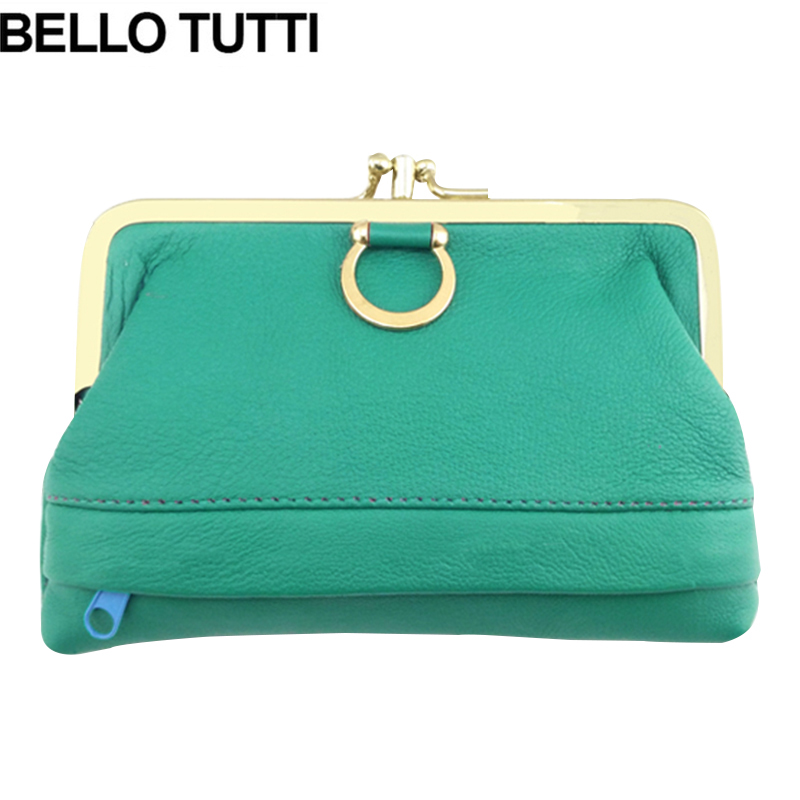 BELLO TUTTI Genuine Leather Women Purses Metal Farme Coin Purse Sheepskin Card Holder Coin Wallet Female Girls Change Purse Bag футболка с полной запечаткой мужская printio ver thik her ek kom берегись я иду