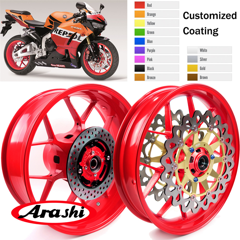 Arashi Front Rear Wheel Rim For HONDA CBR1000RR 2008-2016 Rims Brake Disc Rotors CBR1000 CBR 1000 RR 08 09 10 11 12 13 14 15 16 Arashi Front Rear Wheel Rim For HONDA CBR1000RR 2008-2016 Rims Brake Disc Rotors CBR1000 CBR 1000 RR 08 09 10 11 12 13 14 15 16