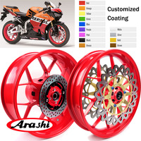 Arashi Front Rear Wheel Rim For HONDA CBR1000RR 2008 2016 Rims Brake Disc Rotors CBR1000 CBR 1000 RR 08 09 10 11 12 13 14 15 16