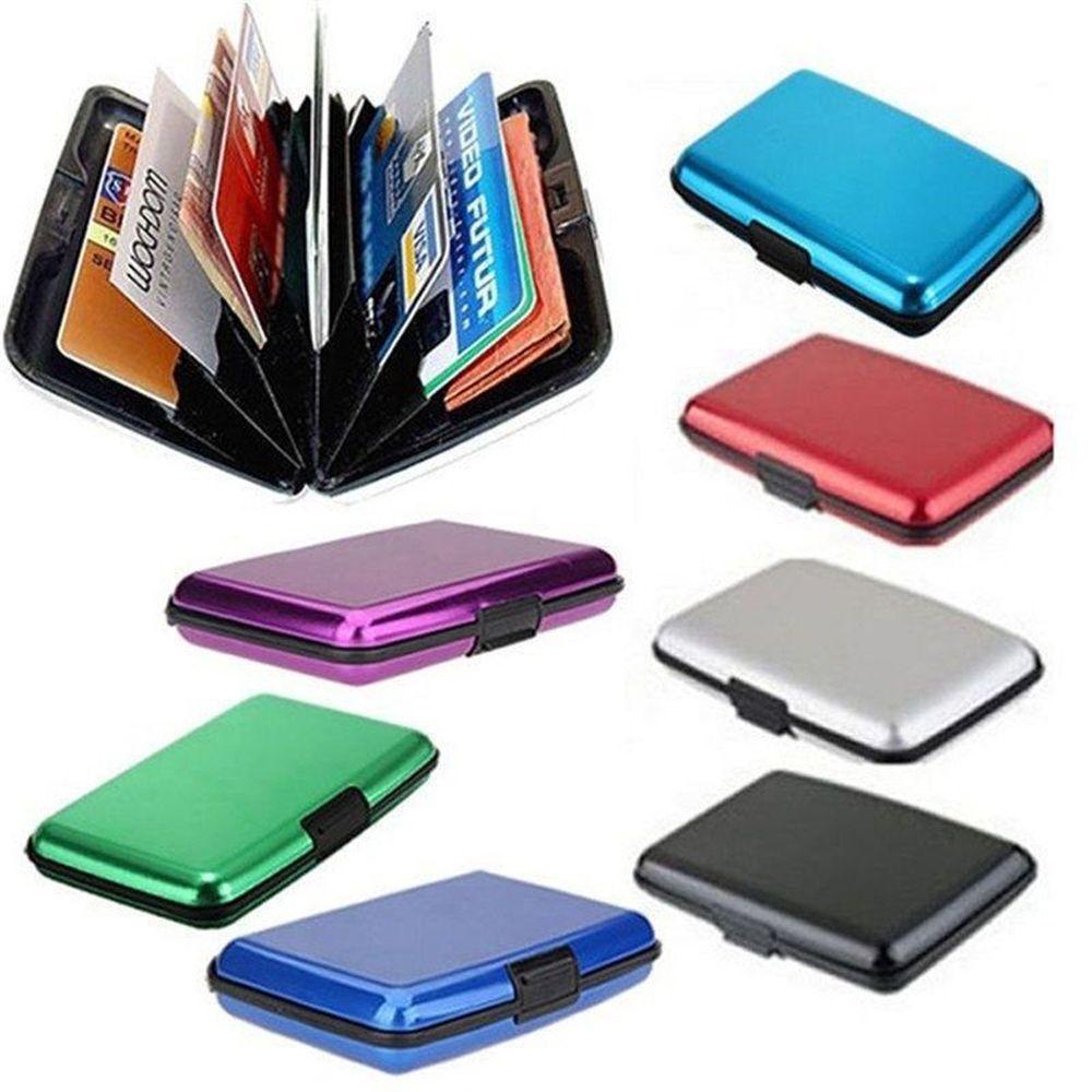 business credit card wallet holder aluminum metal pocket