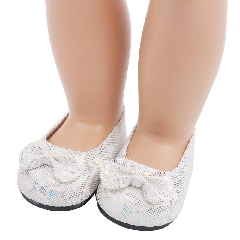Silver bow princess dress shoes