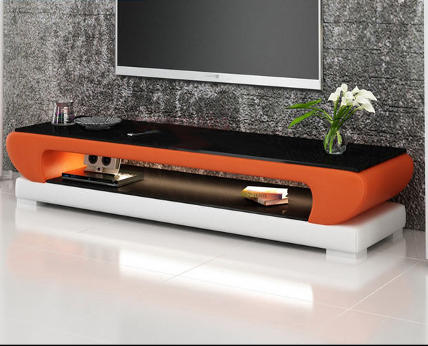 Natural glass top leather TV Stand modern Living Room Home Furniture tv led monitor stand mueble tv cabinet mesa tv table