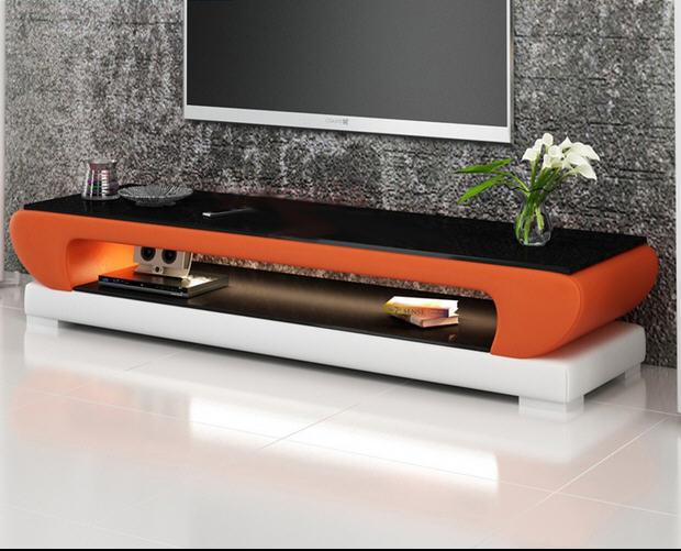 Plateau en verre naturel en cuir meuble de télévision salon moderne meubles de maison meuble de moniteur LED de télévision meuble de télévision mueble mesa table de télévision