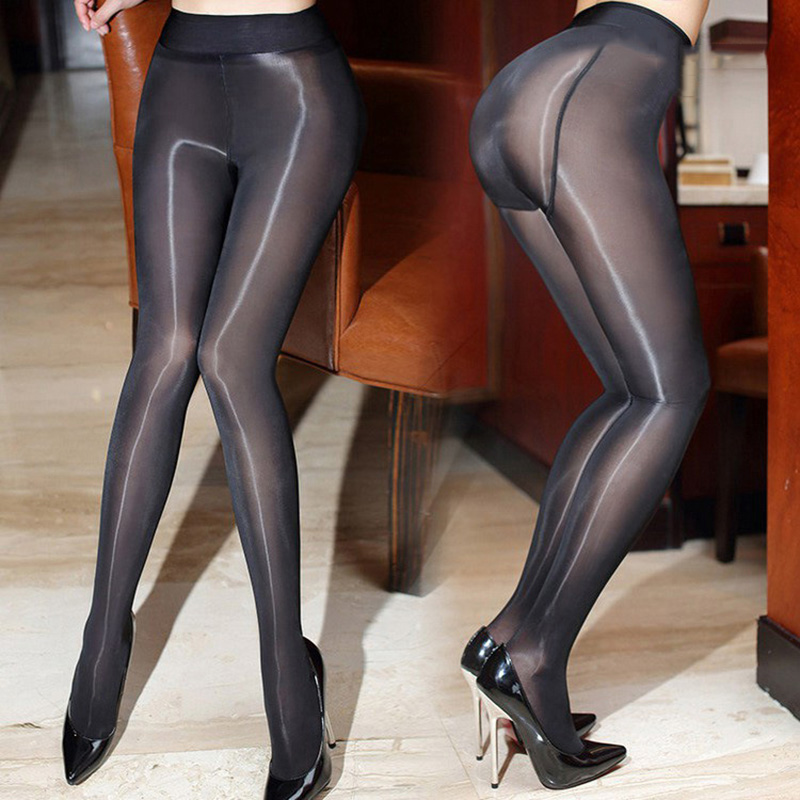 2017 New 8D Sexy Add Crotch Oil Shiny Pantyhose For Women -9608