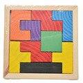 Деревянный Tangram Логические Головоломки Игра Тетрис Развивающие Детские Ребенка Kid Игрушка для chileren Бесплатная Доставка