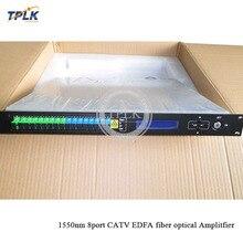 1U 1550nm CATV WDM EDFA 8 портов 16/18/22/23dbm 1550nm волоконно-оптический Amplitfier CATV EDFA высокого качества SC/APC cnonector