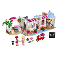444Pcs Friends Heartlake Cupcake Cafe 01002 Building Blocks Model Brick Girl Toy Compatible With Lego