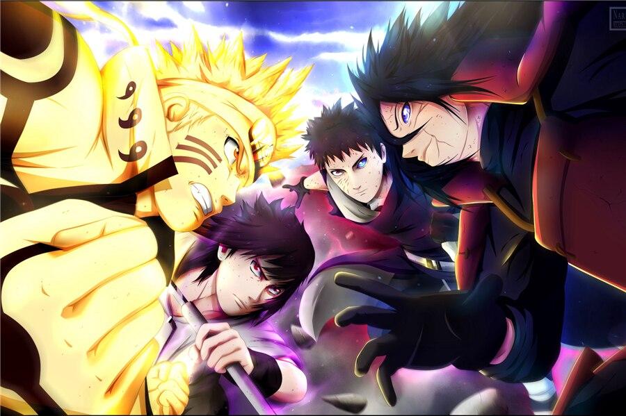 Personalizado lienzo Naruto cartel Naruto Adhesivos de