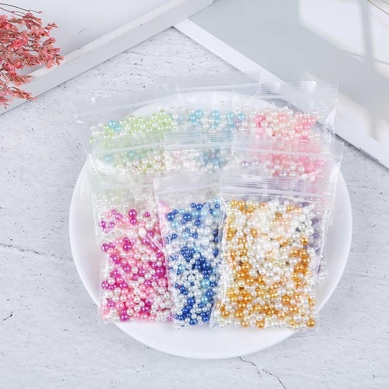 15 グラムクリスタル金魚鉢ビーズスライム用品 Diy グリッターパールスライムフィラーふわふわ装飾色のグラデーションスライムアクセサリー