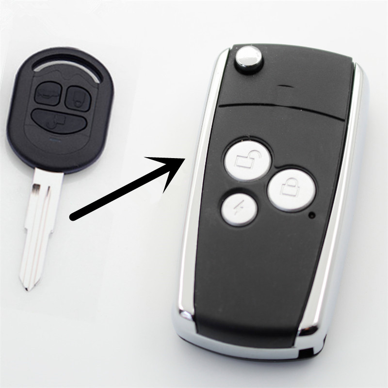 FLYBETTTER 3Button Modified Flip Folding Remote Key Case Shell For Buick 05-07 Excell For Chevrolet Key Fob Case  G218FLYBETTTER 3Button Modified Flip Folding Remote Key Case Shell For Buick 05-07 Excell For Chevrolet Key Fob Case  G218