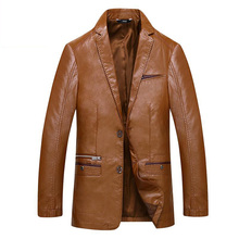 MUDI Fashion Men's Leather Jackets And Coats Suit Collar Leather Jackets Men Slim Clothing Soft Faux Leather Clothes For Man