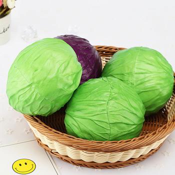 1 sztuk sztuczne kapusty z tworzywa sztucznego EVA sklep dekoracji Mini fałszywe warzywa Home Decor sztuczne owoce i warzywa rekwizyty tanie i dobre opinie Kapusta 1 pc green purple 13x10 5cm