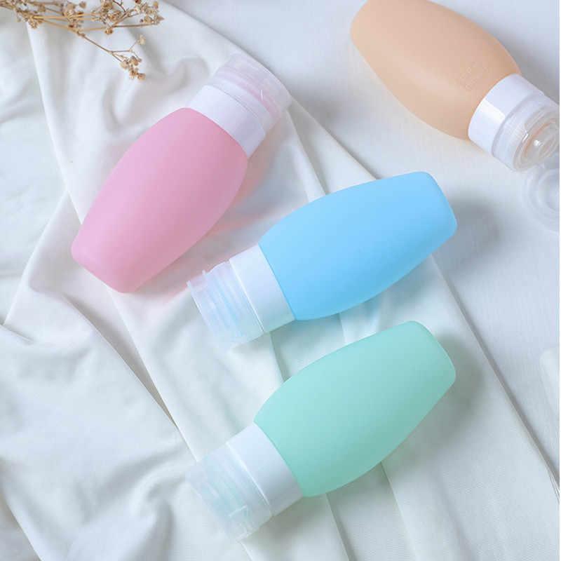 1 pc 60 ml 90 ml przenośne puste silikonowe Travel Press wielokrotnego napełniania butelki dla balsam szampon żel pod prysznic i do kąpieli małe próbki organizator