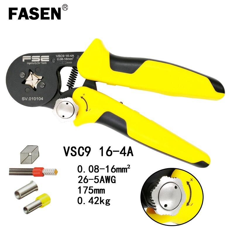 0.25-6mm² Self Adjusting Crimper Plier Ratcheting Ferrule HSC8 6-4A AWG23-10  ^