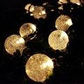 Iluminação do feriado Luzes Da Corda Solar 5/6. 5 Metros de Luzes De Fadas 20/30 LED Natal Festa de Casamento Ao Ar Livre Decoração de Bola Bolha