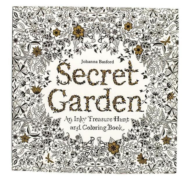 1 PC Secret Garden Adult Coloring Book 96 Pages 185185cm Designs Stress