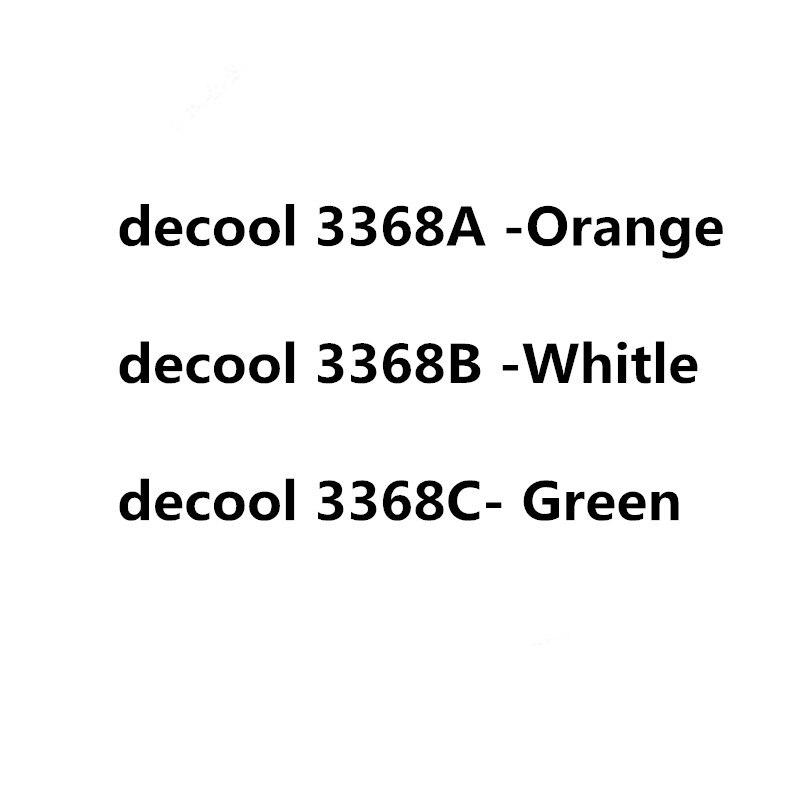Décool 3368 2726 pièces Technic série blanc vert Orange voiture modèle Kits de construction blocs jouets briques Comaptible 42056 cadeaux