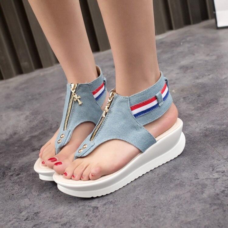 fe5dd7d04e9969 3cm platform open toes Flat Platform Sandals Women 2016 New Summer ...