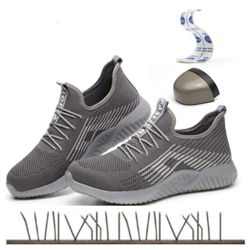 Chaussures de sécurité 2019 hommes été respirant nti-smash piercing site sécurité travail léger fond souple baskets